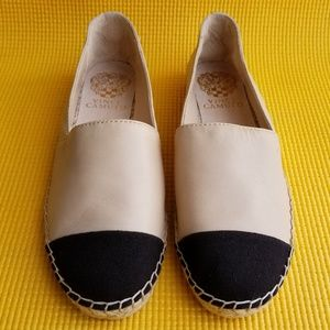 Vince Camuto 'Dally' Leather Espadrille Flat